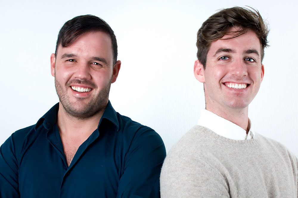 Two handsome men O'Keeffe Orthodontic smiles