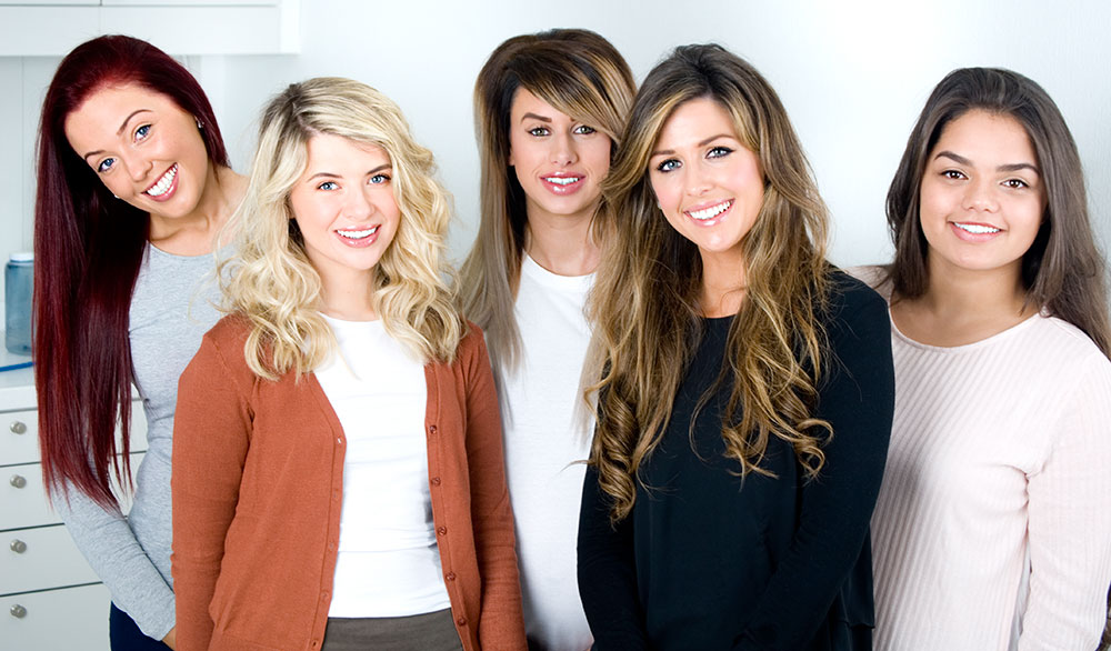 Five gorgeous girls Young O'Keeffe Orthodontics Smiles
